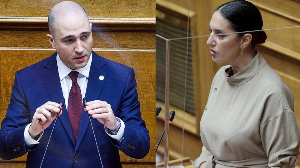 Οι βουλευτές της Νέας Δημοκρατίας Νόνη Δούνια και Κωνσταντίνος Μπογδάνος